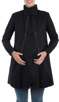 Women's Modern Eternity A-Line Convertible Maternity Swing Coat