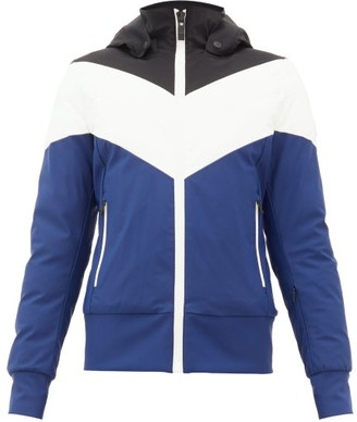 Fusalp Lia Chevron-quilted Hooded Jacket - Blue Multi