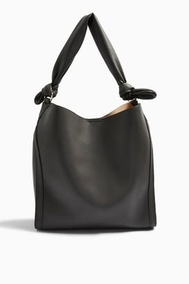 Topshop Womens Helen Charcoal Grey Ruched Hobo Bag - Charcoal