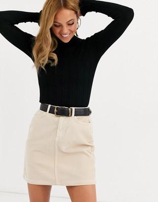 Miss Selfridge jumper with frill cuff in black