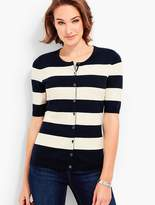 Talbots Elbow-Sleeve Charming Cardigan - Bold Stripes
