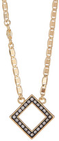 Cole Haan Pave Crystal Open Square Pendant Necklace