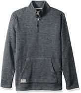 Quiksilver Waterman Men's Mormont Tre Fleece Zip Sweatshirt Top