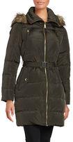 MICHAEL Michael Kors Faux-Fur Trimmed Hooded Puffer Coat