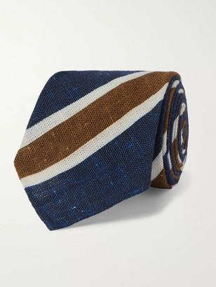 Kiton 8cm Striped Melange Cotton Tie