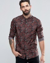 Pretty Green Shirt With All Over Paisley Print In Slim Fit