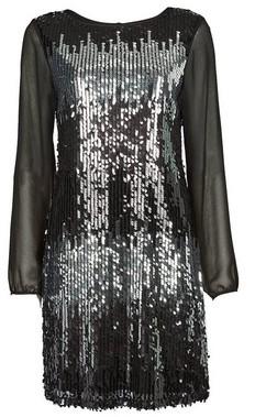 Dorothy Perkins Womens **Billie & Blossom Black Rainbow Shift Dress, Black