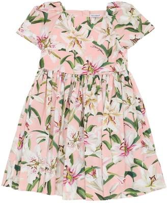Dolce & Gabbana Lilium Printed Cotton Poplin Dress