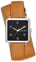 MICHAEL Michael Kors Women's 'Brenner' Square Leather Strap Watch, 31Mm