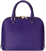 Hepburn Grab Handbag, Purple Ostrich