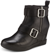 DKNY Hanna Leather Wedge Bootie