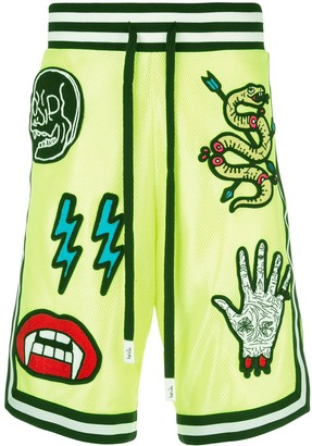 Haculla Basketball patch mesh shorts