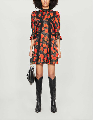 The Kooples Floral-print crepe dress