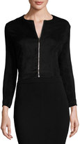 The Row Stanna Cropped Zip-Front Jacket, Black