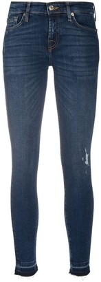 7 For All Mankind Illusion distressed skinny jeans