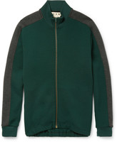 Marni Wool-Blend Jersey Zip-Up Sweatshirt