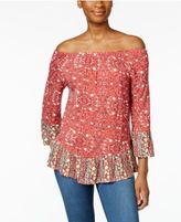 Style&Co. Style & Co Off-The-Shoulder Peplum Top, Only at Macy's