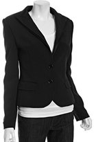 black tiered lapel 2-button jacket