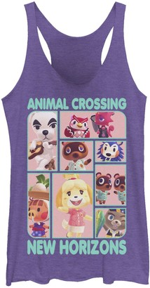Licensed Character Juniors' Animal Crossing New Horizons Group Box Up Tank Top