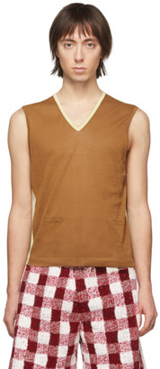Judy Turner Tan and Yellow Mary Vest