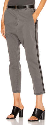 Nili Lotan Paris Pant with Double Tape in Charcoal & Black   FWRD