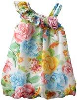 Bonnie Baby Girls Infant One Shoulder Chiffon Bubble Dress