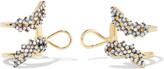 Noir Gold-tone crystal ear cuffs