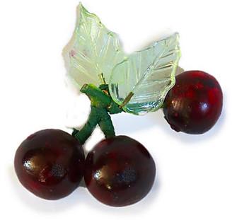 One Kings Lane Vintage Italian Alabaster & Glass Cherries - Rose Victoria