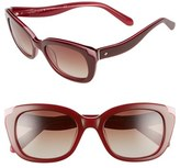 Kate Spade Women's 'Danella' 50Mm Sunglasses - Red/ Pink