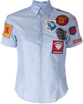 DSQUARED2 patch short sleeved shirt - women - Cotton - 42