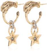 Roberto Cavalli Swarovski Earrings With Star Pendant