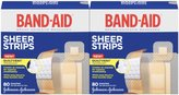 Safety First Band-Aid Comfort-Flex Adhesive Bandages-Sheer, Assorted Sizes, 2 pk