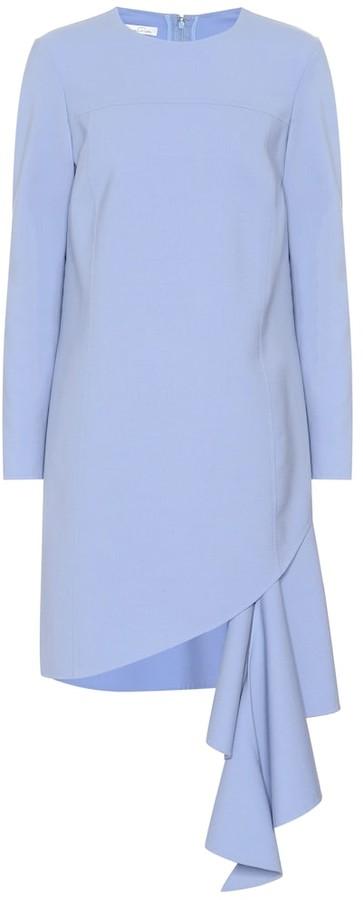 Oscar de la Renta Wool-blend minidress