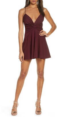 Katie May Baby Girl Plunge Neck Minidress