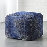 CB2 The Hill-Side disintegrated floral print pouf