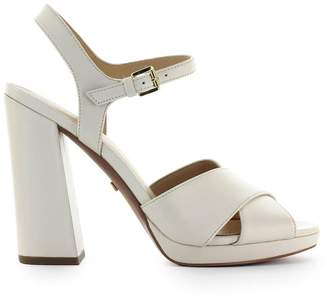 Michael Kors Alexia Platform Light Cream Leather Sandal