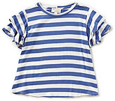 Blu Pepper Big Girls 7-16 Striped Ruffle-Sleeve Top