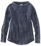 L.L. Bean Signature Cotton Fisherman Tunic Sweater, Washed