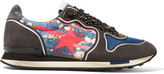 Golden Goose Deluxe Brand Printed canvas and suede sneakers