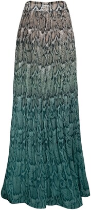 AFRM Rocco Plisse Pleat High Waist Maxi Skirt