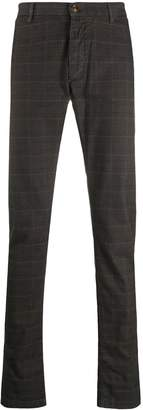 Trussardi Jeans checked slim-fit trousers