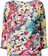M Missoni watercolour floral top - women - Silk - S