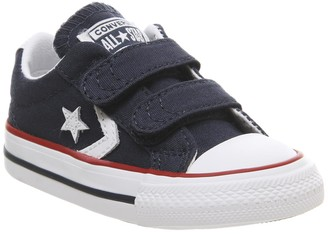 Converse Star Player Infant Trainers Navy White Red