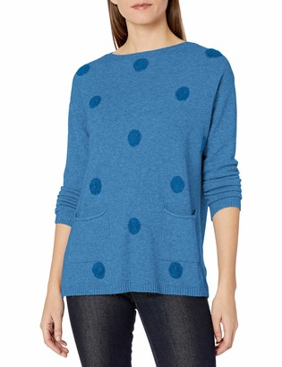 M Made in Italy Women's Polka Dot Sweater with Long Sleeve