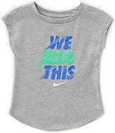Nike Baby Girls 12-24 Months We Run This Modern Tee