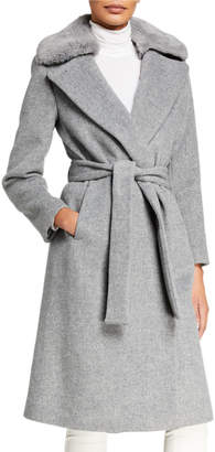 Club Monaco Baylee Coat with Faux-Fur Collar