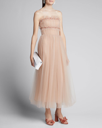 Jason Wu Collection Ruched Tulle Strapless Cocktail Dress
