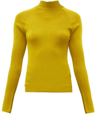 Petar Petrov Kienna Open-back Sweater - Womens - Dark Yellow