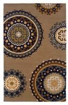 Nobrand No Brand Medallion Area Rug - Tan/Light Blue (5'x8')