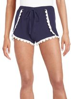 Saks Fifth Avenue RED Scalloped Lace-Trimmed Shorts